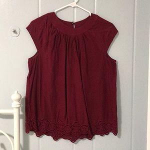 Madewell dark red top